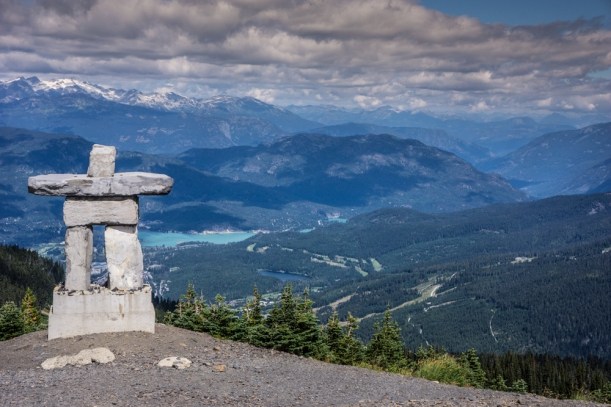 View from the top of Whistler Mountain