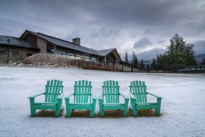 Steamer chairs waiting for the Spring